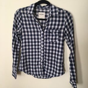 Abercrombie Kids gingham Button Down Size Large